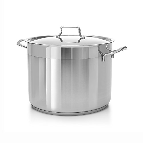 ybmhome Classic Edelstahl Chef 's Induktion kompatibel Suppentopf Mehrzweck Kochgeschirr mit Kapselboden 16 quart edelstahl 16 Quart Stock Pot