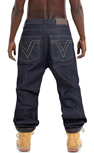 Pizoff Herren Hip Hop Hipster Rap Style Baggy Jeans in mittelblauer  Waschung j9163 ...