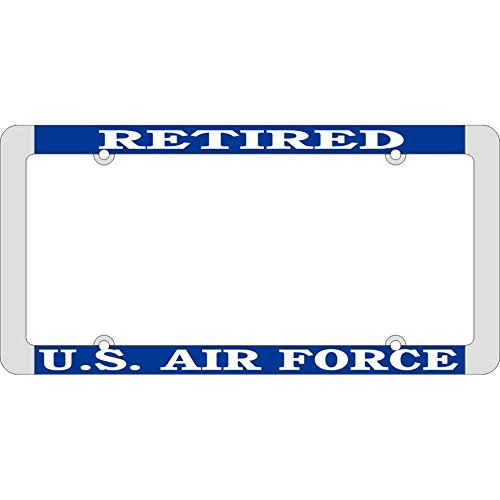 Preisvergleich Produktbild Honor Country US-Luftwaffe zurückgezogen Nummernschildrahmen,  dünner Rand