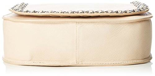 kaviar gauche - Petite Bag w.flower chain, Borsa a tracolla Donna Beige (Beige (nude/silver))