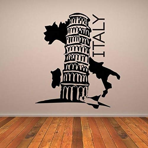 a Wall Stickers Landmarks Italien Removalle Wallpaper Decals Living Room Background Vinyl Poster ()