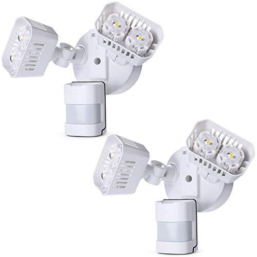 2er SANSI LED Strahler mit Bewegungsmelder, 18W 1800LM Scheinwerfer Ersetzt 150W Glühbirne, IP65 Wasserfest Außenwandleuchte Außenstrahler Geeignet Für Garage, Ausgang, Garten, Haustür, Usw.