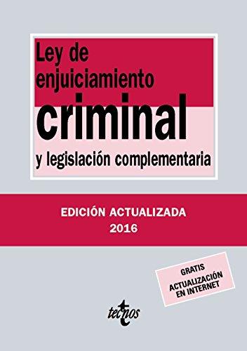 Ley de enjuiciamiento criminal : y legislación complementaria por Editorial Tecnos