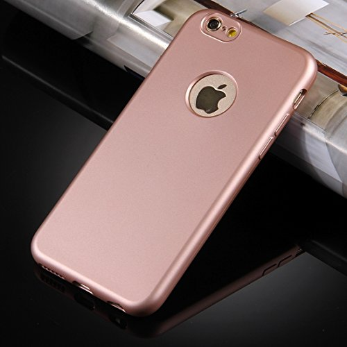 Pour iPhone 6 / 6s 360 degrés Protection complète Soft TPU Back Cover + PC Combinaison avant JING ( Color : Black ) Rose gold