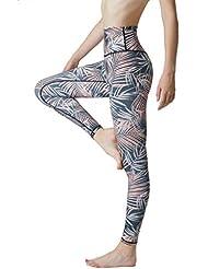 5873ee8167d SENXINGYAN Leggings Sport Femme Legging de Taille Haute Yoga Pantalon  Fitness Élasticité Slim Gym Running -