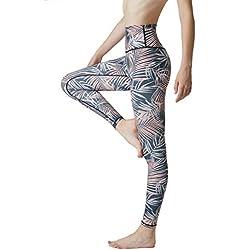 SENXINGYAN Leggings Mujer Cintura Alta Deportes Yoga Largos Elásticos y Transpirables Para Pantalones Gym Fitness de Running Ejercicio Mallas,Negro,XL/XXL