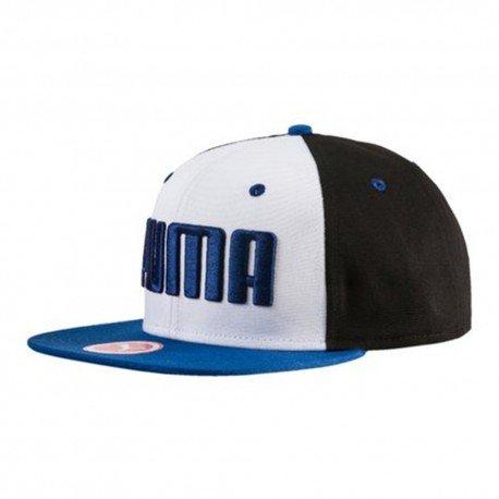 Puma ESS Flatbrim Cap - puma black-true blue, Größe #:1