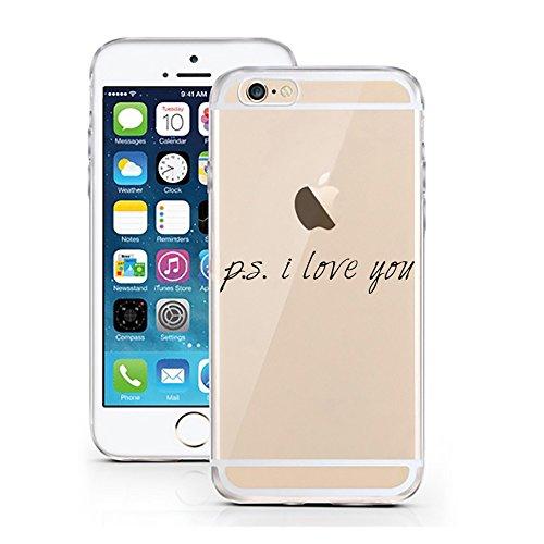 iPhone 6S Hülle von licaso® für das Apple iPhone 6 & 6S aus TPU Silikon Schwarze Punkte Black Dots Fashion Style Muster ultra-dünn schützt Dein iPhone & ist stylisch Schutzhülle Bumper Geschenk (iPhon p.s. i love you