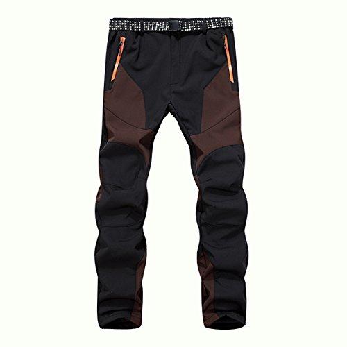 Alamor Hommes en Plein Air Patagonia Twill Cargo Escalade Pantalon Couleur Assorti Pantalon Chaud Doublé-# 02-XL