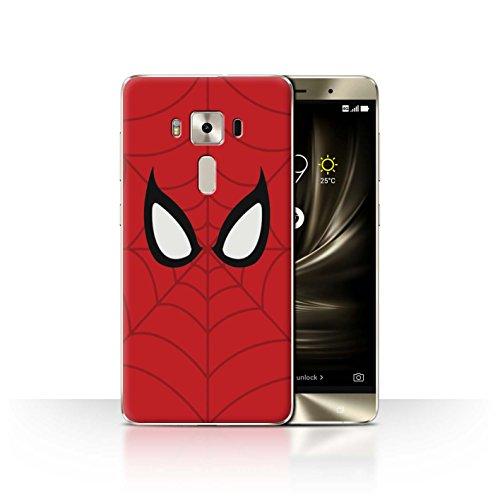 Stuff4® Hülle/Case für Asus Zenfone 3 Deluxe ZS570KL / Spider-Man Maske Inspiriert Muster/Superheld Comic-Kunst Kollektion
