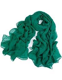 Pure Green Ladies Chiffon Silk Shawl Scarves, 180 * 110 cm