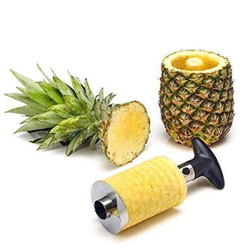 NewbieBoom Home Küchenhacker Obst Ananas Corer Slicer Peeler Cutter Parer Messer Edelstahl Home Küchenhacker, 1 Ananas-corer-slicer