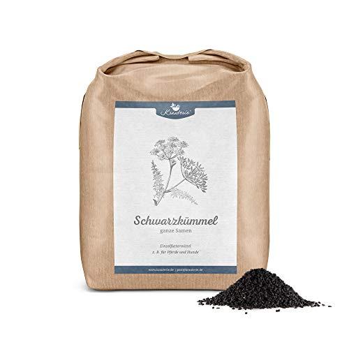 Krauterie Schwarzkümmel-Samen ganz in Spitzenqualität für Pferde & Hunde, frei von Zusätzen (1000 g)