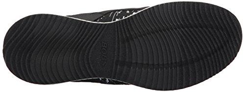 Skechers Damen Bobs Squad-Double Dare Slip On Sneaker Schwarz (Black/White)