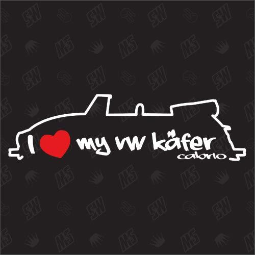speedwerk-motorwear I Love My Käfer Cabrio- Sticker Bj. 72-80 (72 Vw Käfer)