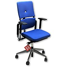 STEELCASE PLEASE V2 CHAIR NEW BLUE FABRIC …