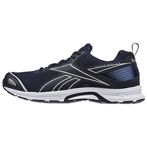 Reebok 0 Marinho Triplo Mens Branco Prata Azuis Rodando Salão colegiado Sapatos 5 awxa6H