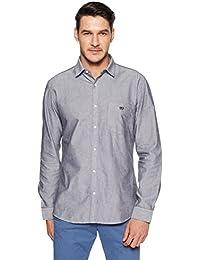 Van Heusen Sport Men's Plain Slim Fit Cotton Casual Shirt - B079L8TTX8