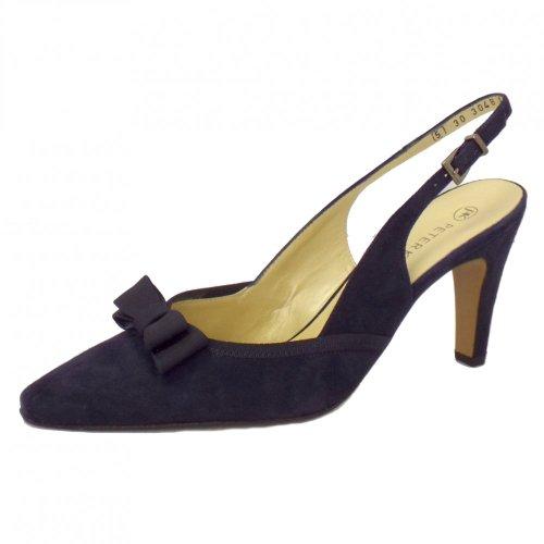 Peter Kaiser Tanina Mesdames Slingback Chaussures En Daim Marine Notte Suede