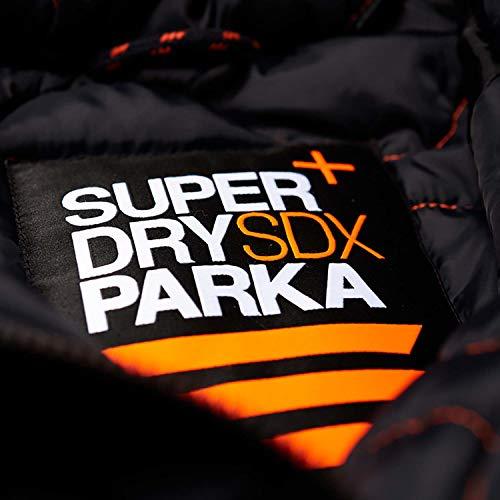 Superdry Hombre Parka Jacket de SDX, Azul, X-Large