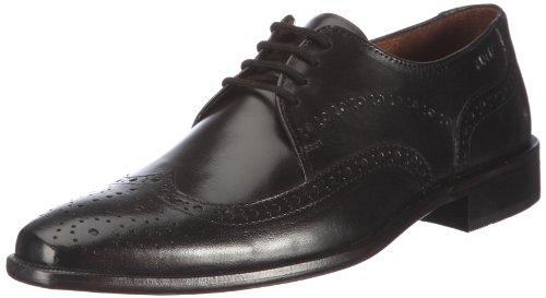 Manz Essex 113025-12 Herren Klassische Halbschuhe Schwarz (schwarz 001)