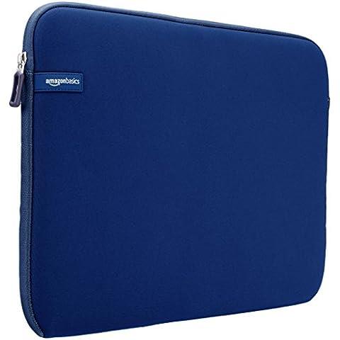 AmazonBasics - Funda para portátil con pantalla de 15 a 15,6 pulgadas, color azul marino