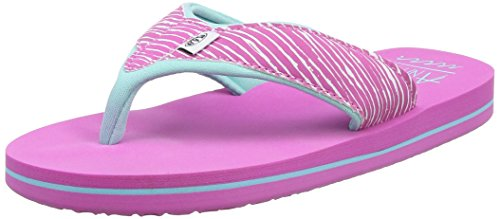 Animal Girls' Swish Upper Aop Flip Flops, Pink (Rose Pink), 12 UK 31 EU