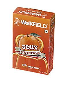Weikfield Jelly Crystals, Orange, 90g