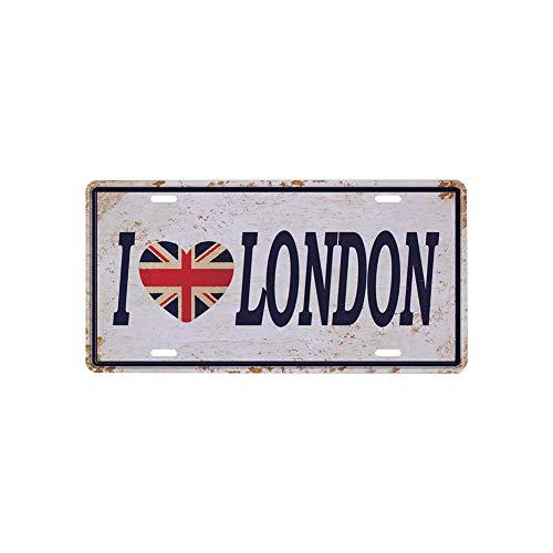 1PC Vendimia metálicos hojalata sesión Amo Londres