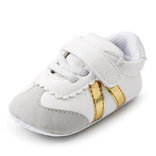 MEIbax Babyschuhe,2018 Mode Kleinkind erste Wanderer Kind Schuhe,Verband weichen Sohle Schuhe Kleinkind Turnschuhe Freizeitschuhe,Streifen-beiläufige Wanderschuhe