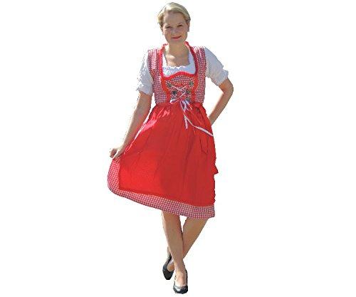 Dirndl Set 3 tlg.Trachtenkleid Kleid, Bluse, Schürze, Gr. 34-44 Neu OVP rot