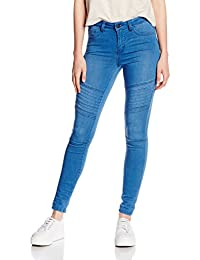 PIECES Damen Hose Pcjust Jute Washed Rmw Rine/Mbld Noos
