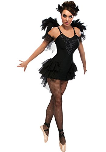 Black Swan - Adult Ladies Halloween Gothic Ballerina Costume Lady: L (UK: 14-16)