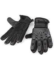 CARCHET® Paire Gants Protection en Cuir Nylon Plein Doigts L Airsoft Boxe Exercice