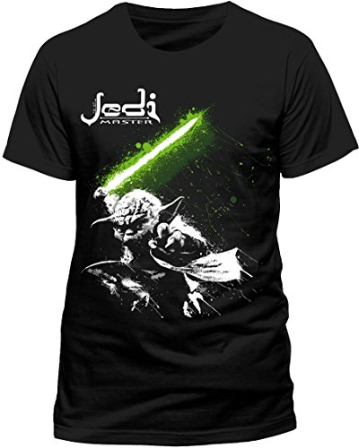 CID STAR WARS - YODA MASTER-T-shirt  Uomo, Black, X-Large