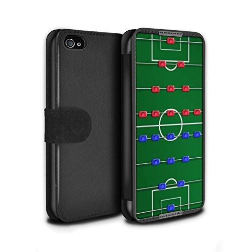 Stuff4 Coque/Etui/Housse Cuir PU Case/Cover pour Apple iPhone 4/4S / Pack 6pcs Design / Jeux Collection Baby-Foot