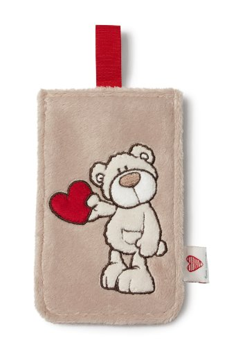 Nici 36269 - Handyhülle Love Bär, Plush, 9 x 14.5 cm, Creme - Creme Plüsch