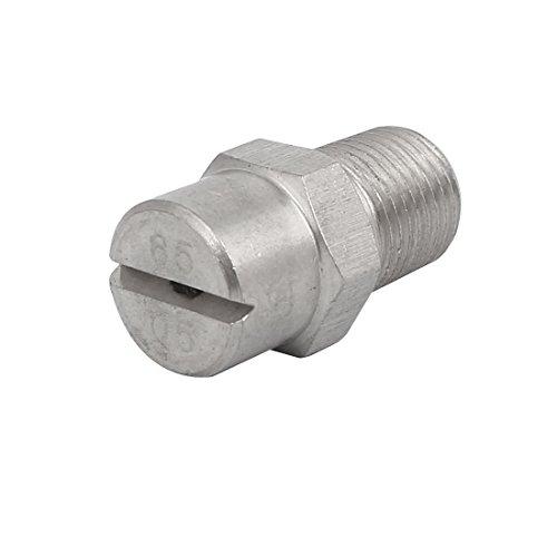 sourcingmap® 1/8BSP orifice 1,4 mm diamètre pulvérisation 65 ventilateur plat acier inoxydable buse pulvérisation