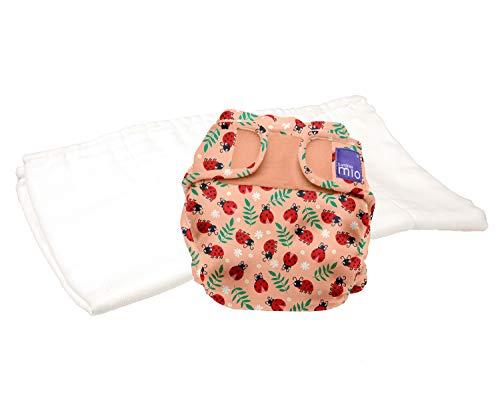 Bambino Mio, miosoft zweiteilige windel (probepackung), warmherziger marienkäfer, Größe 1 (<9kg)
