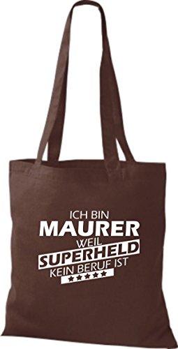 Tote Bag Shirtstown Sono Mason Perché Supereroe Nessuna Professione È Marrone