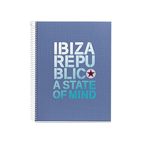 Ibiza Republic 2456–Quaderno, formato A4, 120fogli, 210x 297mm