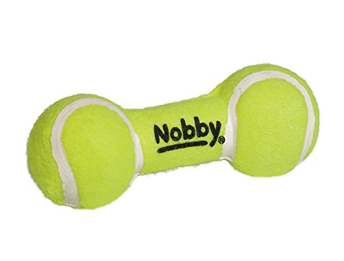 Nobby Tennis Hantel mit Squeaker  13,5 cm -