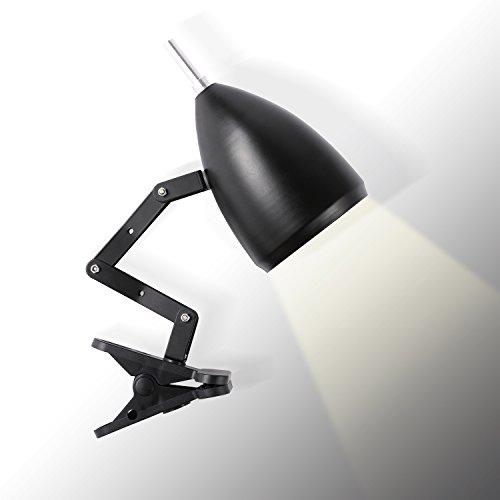 Topmo-plus lampada da lettura design ferro classico, lampada da tavolo, lampada regolabile scrivania, con braccio snodato, eye-friendly, la lampada da lavoro, lampada da ufficio, lampada da comodino nero