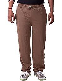Lingo Men's Cotton Track Pants Pyjama - Coffee Brown