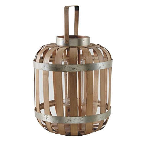 AUBRY GASPARD Lanterne en Bambou Naturel métal