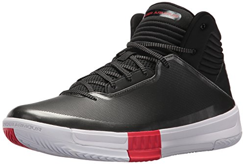 Under Armour Herren UA Lockdown 2 1303265-005 Sneaker, Mehrfarbig (Black,White 001), 42.5 - Basketball-schuhe Aus