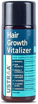 USTRAA Hair Growth Vitalizer - 100ml - Boost hair growth, Prevents hair fall, Delays Hair Greying, With Redens
