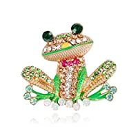 LJSLYJ Cartoon Animal Frog Unique Lapel Pins Denim Shirt Hat Badge Gifts