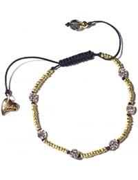 Kleshna Raphaelite Harlequin Simulated Pearl & Rhinestone Bead Bracelet TXW10