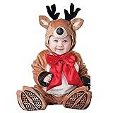foto Odziezet Navidad Conjunto Bebé Niño Niña Papá Noel Elf Reno Muñeco de Nieve Ropa Disfraz 4 PCS Sombrero + Traje + Zapatos + Bufanda 0-2 años